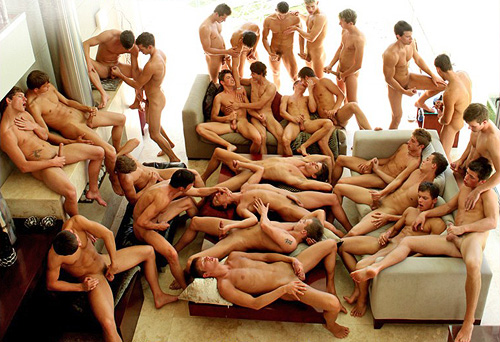 27-man orgy on Bel Ami.