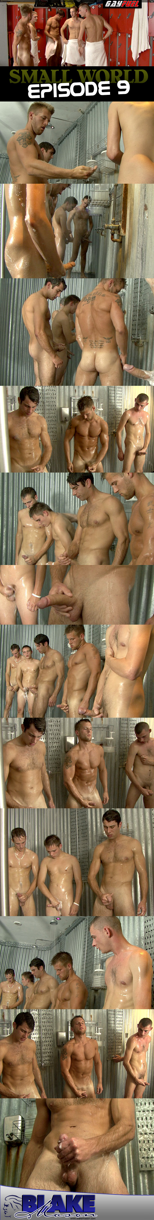 Shower Circle Jerk on Blake Mason.